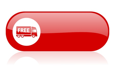 deliverance: free delivery red web glossy icon