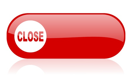close red web glossy icon Stock Photo - 18361910