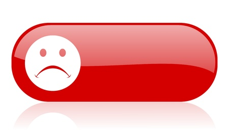 negate: cry red web glossy icon Stock Photo
