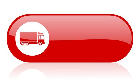 delivery red web glossy icon   photo