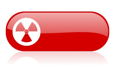 radiation red web glossy icon Stock Photo - 18361816