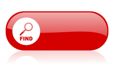 find red web glossy icon Stock Photo - 18361893
