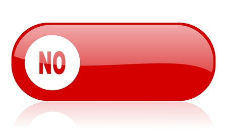 no red web glossy icon Stock Photo - 18361677