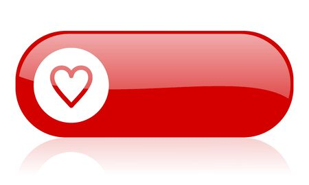 heart red web glossy icon