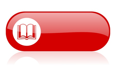 book red web glossy icon 