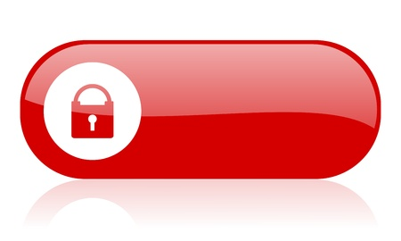 protect red web glossy icon 