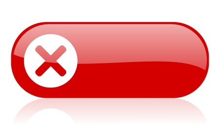 cancel red web glossy icon   Stock Photo