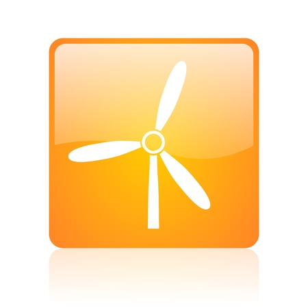 windmill orange square glossy web icon  photo
