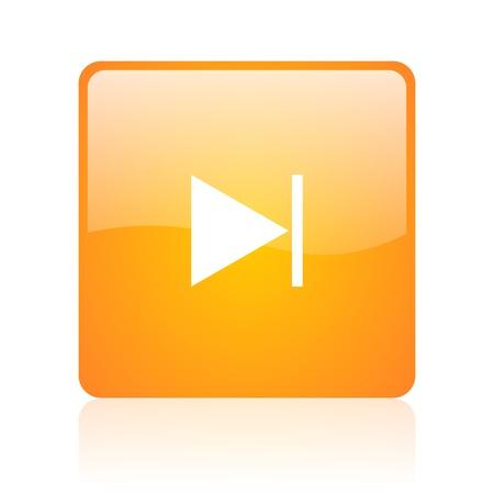 следующий: Следующий оранжевый квадрат глянцевый значок