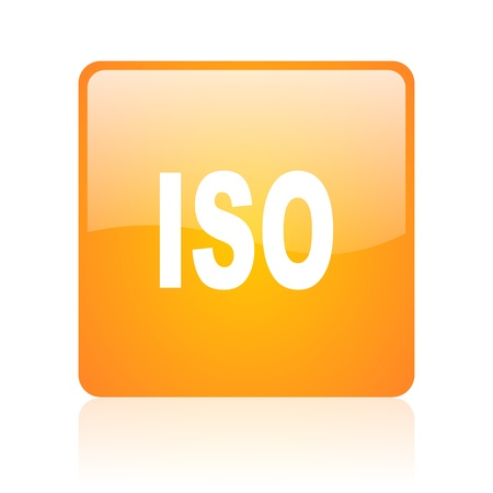 norm: iso orange square glossy web icon