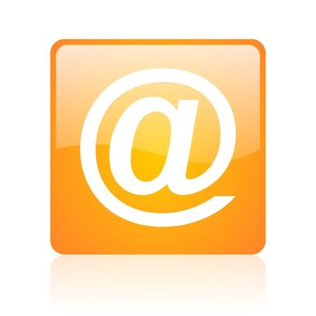 at orange square glossy web icon  photo