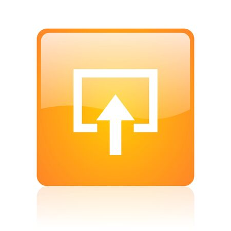 enter orange square glossy web icon  photo