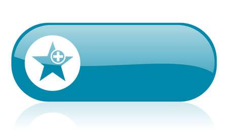 star blue web glossy icon  Stock Photo - 18444450