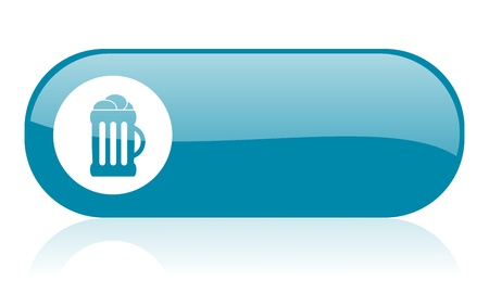 cereal bar: beer blue web glossy icon