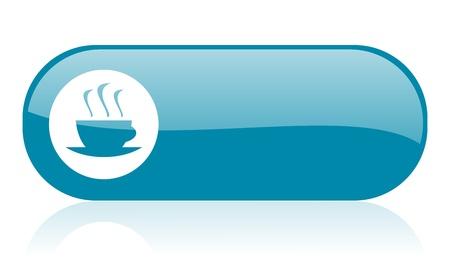 coffee blue web glossy icon  Stock Photo - 18444364