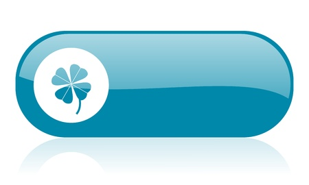 four-leaf clover blue web glossy icon Stock Photo - 18444641