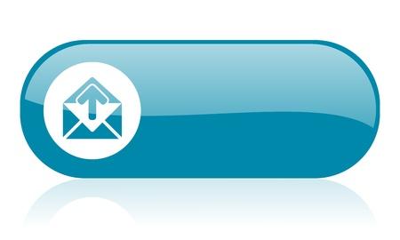 mail blue web glossy icon   photo