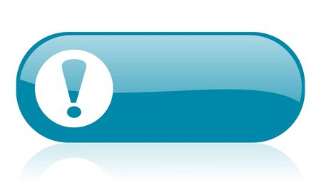 exclamation sign: exclamation sign blue web glossy icon   Stock Photo