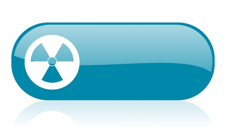 radiation blue web glossy icon 