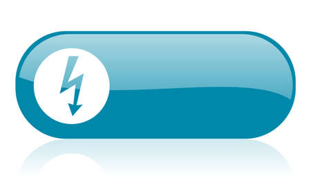 lightning blue web glossy icon   photo