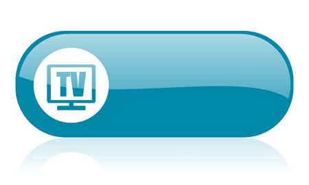 tv blue web glossy icon   photo