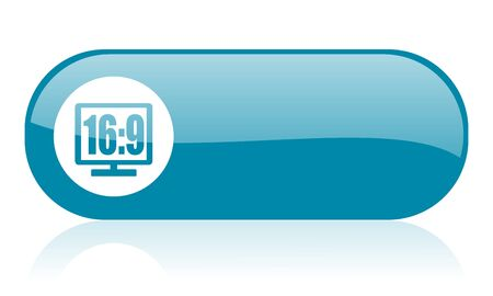16 9 display blue web glossy icon   photo