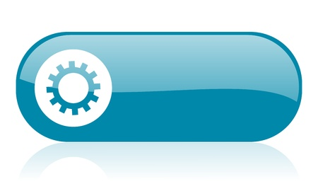 option key: gears blue web glossy icon   Stock Photo