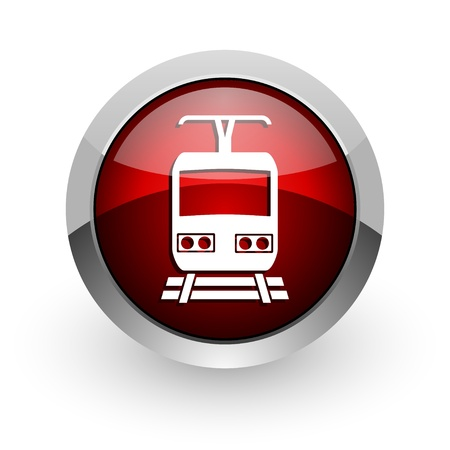 train red circle web glossy icon  photo