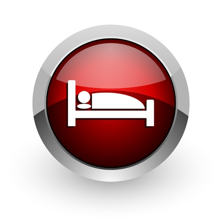 hotel rooms: hotel red circle web glossy icon