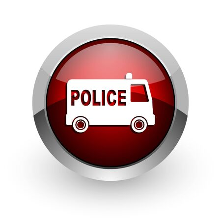 police red circle web glossy icon  photo