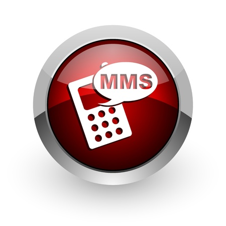 mms red circle web glossy icon  photo