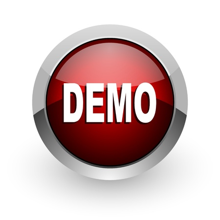 demo red circle web glossy icon  photo