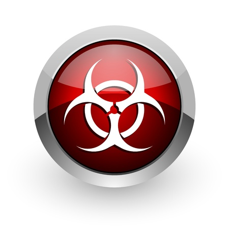 bacterioa: virus red circle web glossy icon