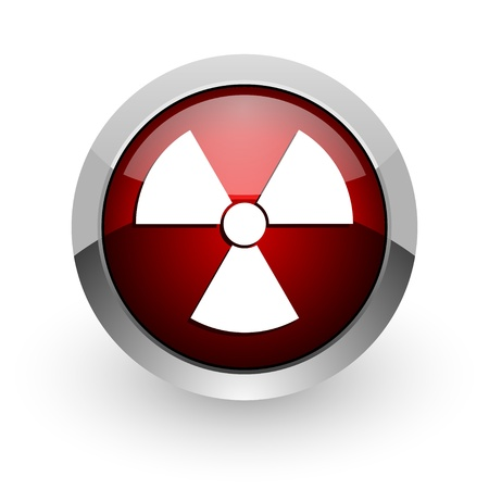 virus red circle web glossy icon
