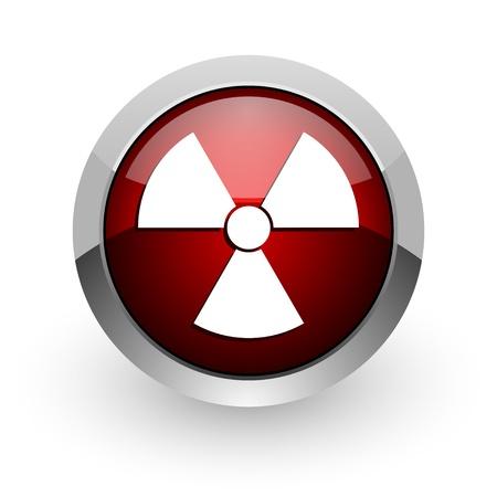 virus red circle web glossy icon Stock Photo - 18578643