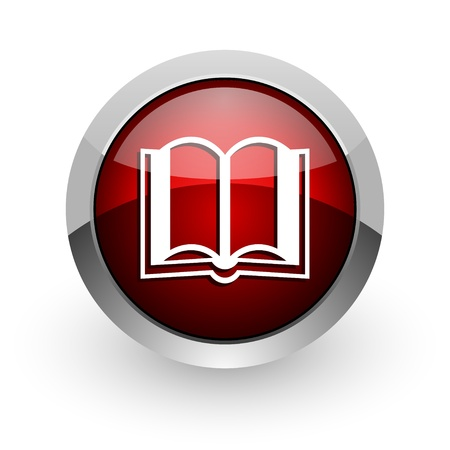 book red circle web glossy icon  photo