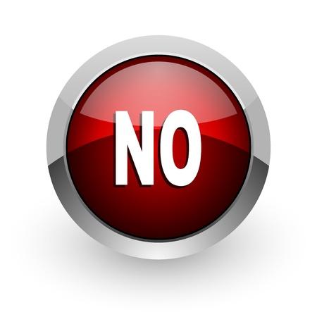 no red circle web glossy icon Stock Photo - 18578724