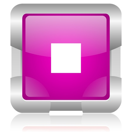 modern oryginal violet square glossy internet icon with steel border on white background Stock Photo - 18637961