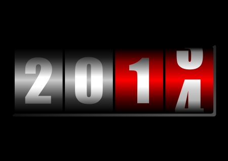 next year: 2014 New Year counter