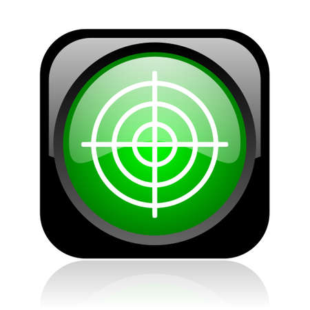 target black and green square web glossy icon