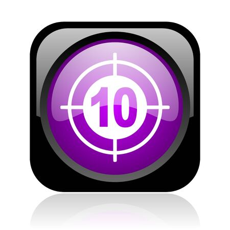 target black and violet square web glossy icon  photo