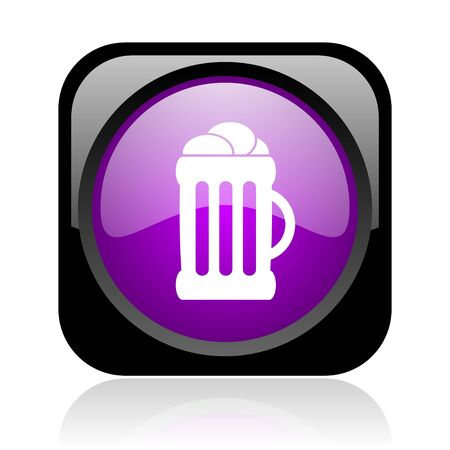 beer black and violet square web glossy icon  photo