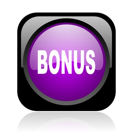bonus black and violet square web glossy icon  photo