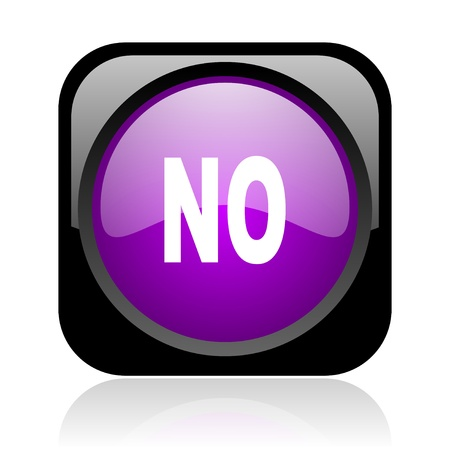 no black and violet square web glossy icon Stock Photo - 19148777