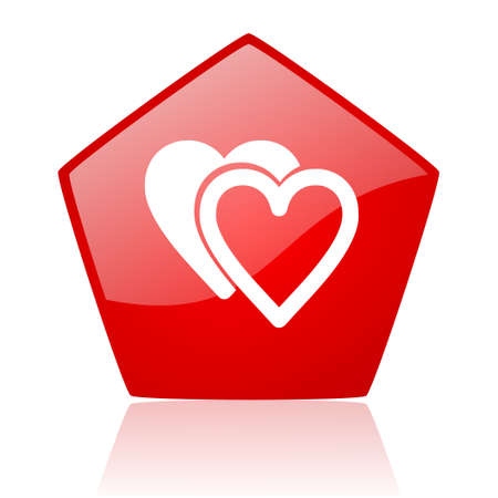 love red web glossy icon  photo