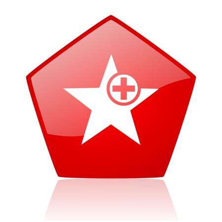star red web glossy icon Stock Photo - 19172159