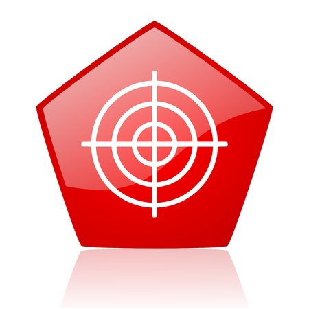target red web glossy icon Stock Photo - 19172388