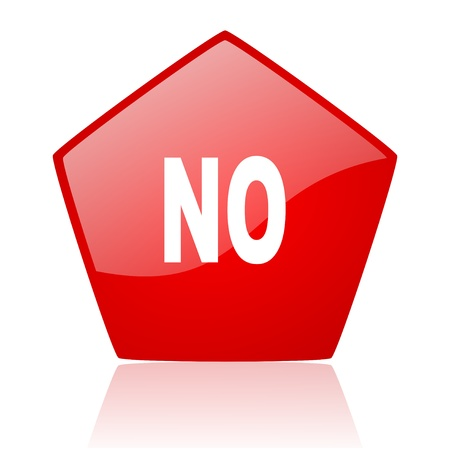 no red web glossy icon Stock Photo - 19171960