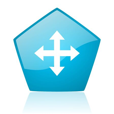 pentagon: arrows blue pentagon web glossy icon  Stock Photo
