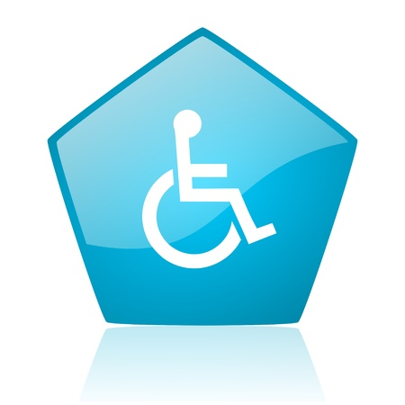 pentagon: accessibility blue pentagon web glossy icon